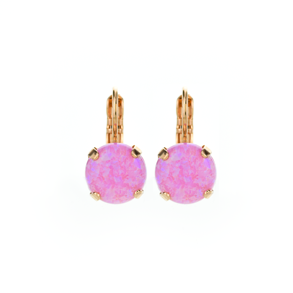 "Lovable Leverback Earrings in ""Pink Synthetic Opal"" *Preorder*"