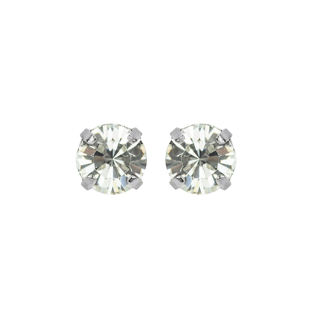 "Lovable Single Stone Bridal Post Earrings in ""On A Clear Day"" *Preorder*"