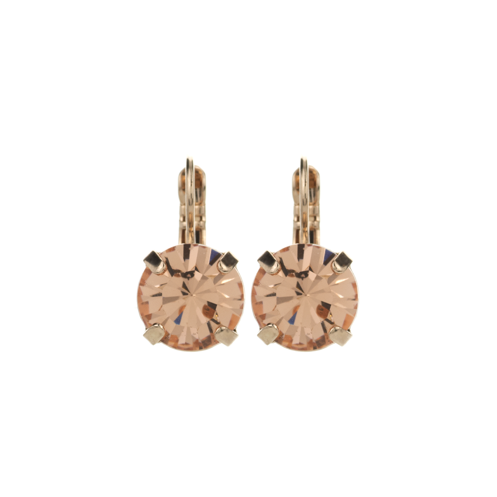 "Lovable Single Stone Leverback Earrings in ""Peach"" *Preorder*"