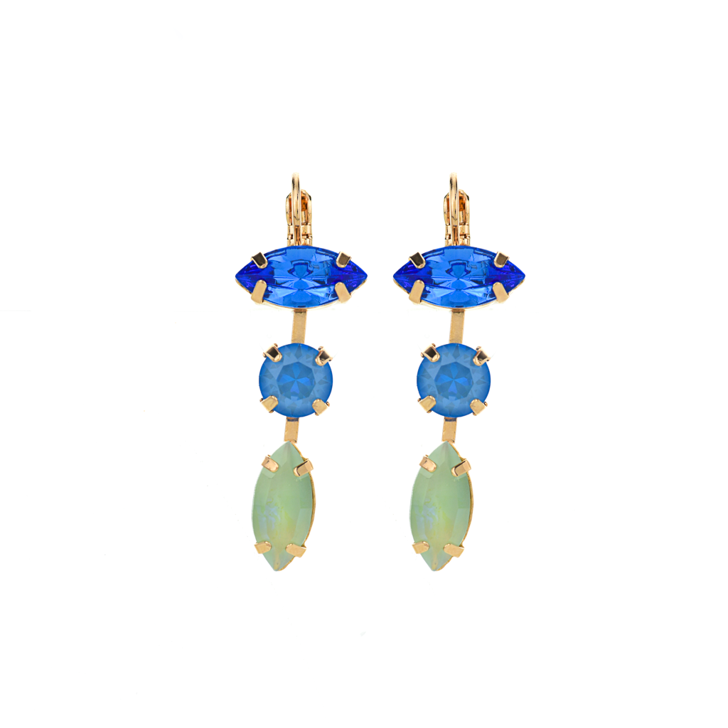 "Double Marquise Dangle Leverback Earrings in ""Serenity"" *Preorder*"