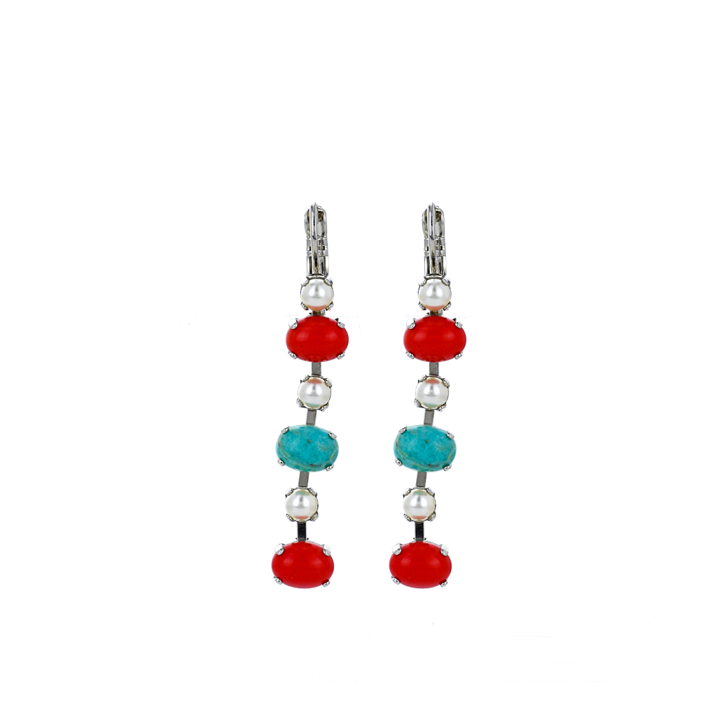 "Alternating Oval and Round Leverback Earrings in ""Happiness-Turquoise"" *Preorder*"