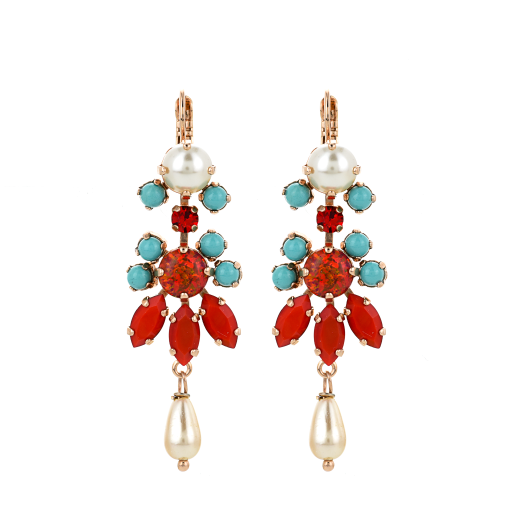 "Marquise Chandelier Leverback Earrings in ""Happiness"" *Preorder*"