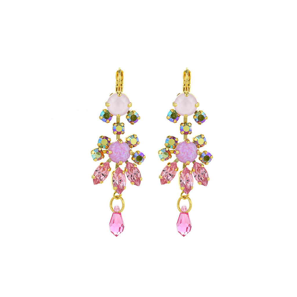 "Marquise Chandelier Leverback Earrings in ""Love"" *Preorder*"