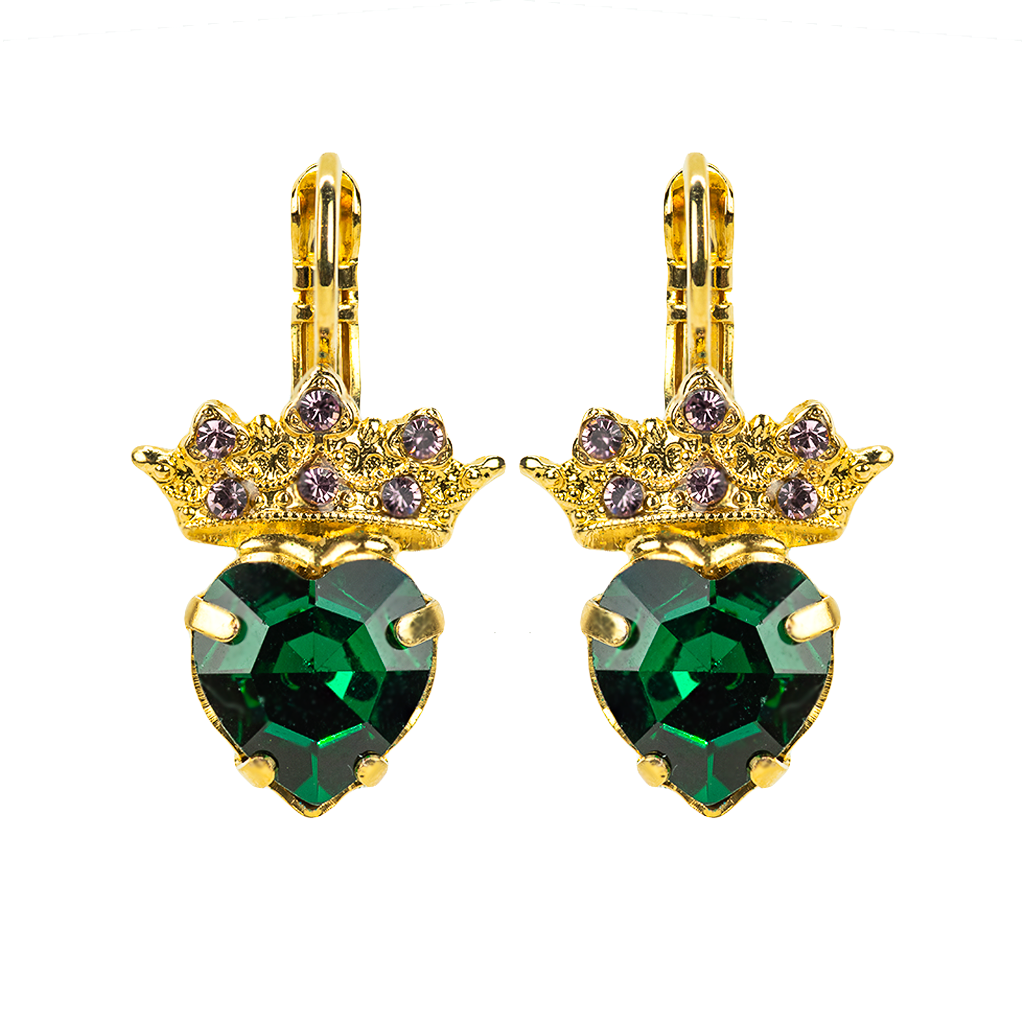 Princess Heart Leverback Earrings *Preorder*