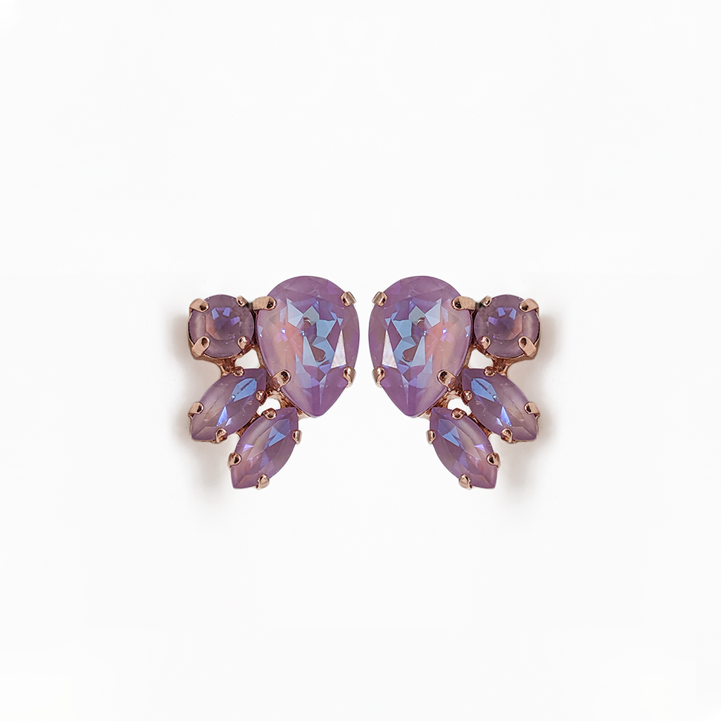 "*Preorder* Pear, Marquise, and Round Post Earrings in Sun-Kissed ""Lavender"""