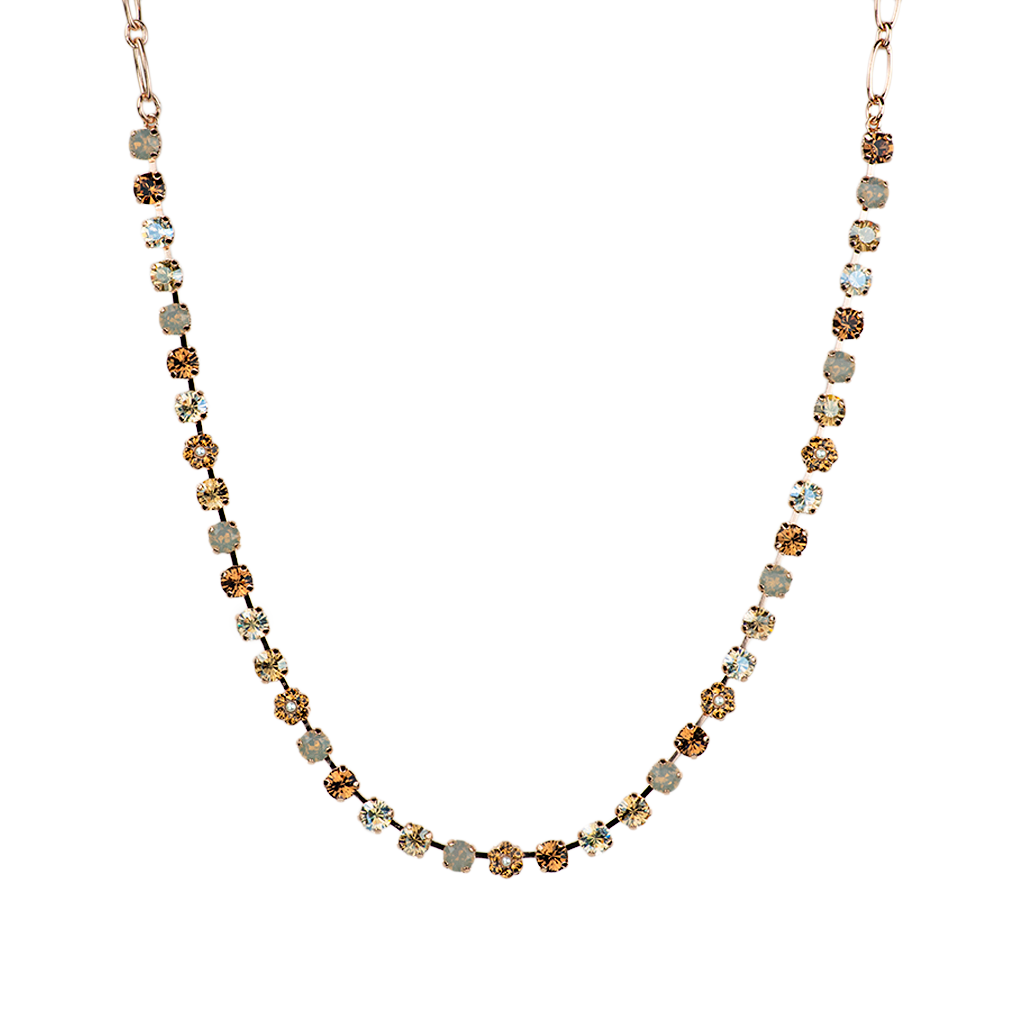 "Petite Flower Necklace ""Champagne & Caviar""- Rose Gold"