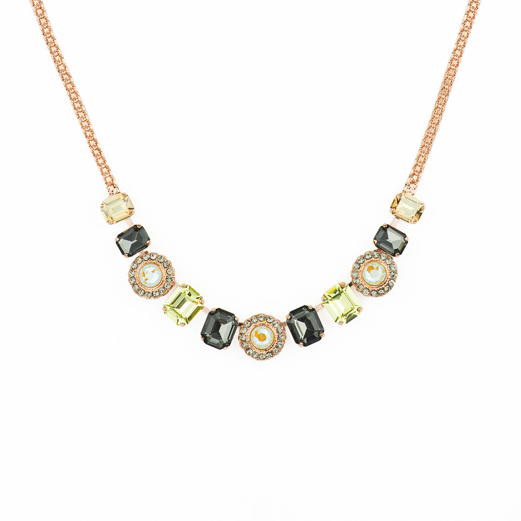 "Emerald Cut and Cluster Necklace ""Painted Lady"" *Preorder*"