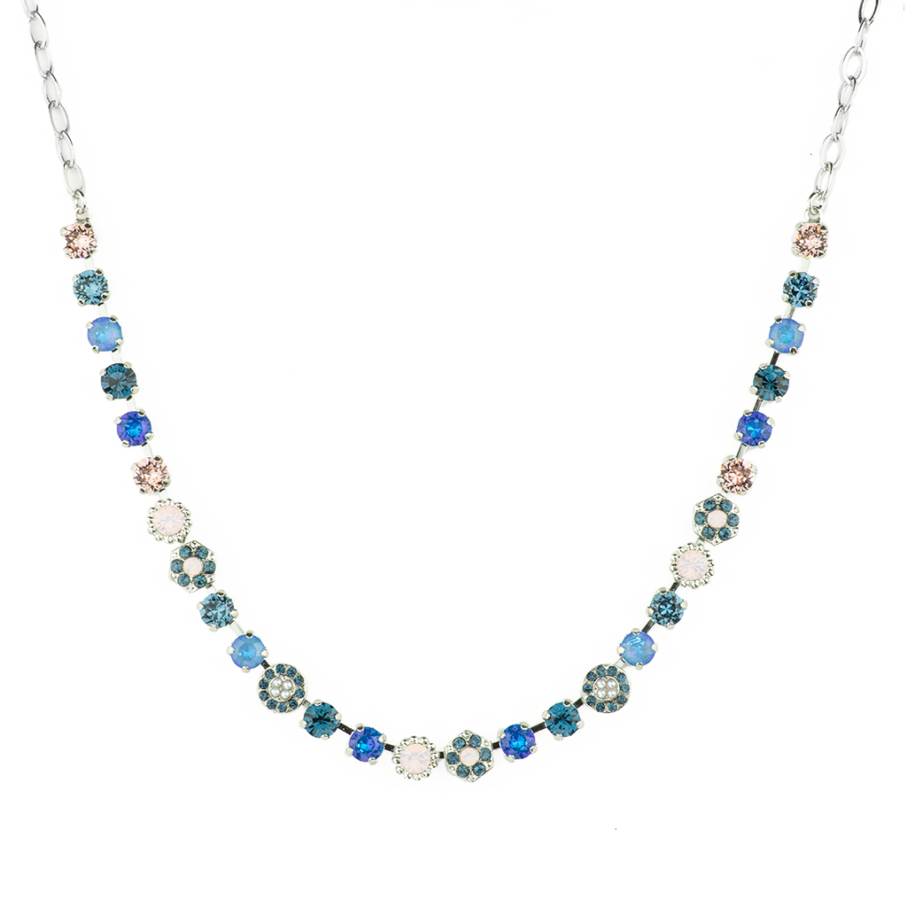 "*Preorder* Petite Rosette Necklace in ""Blue Morpho"""