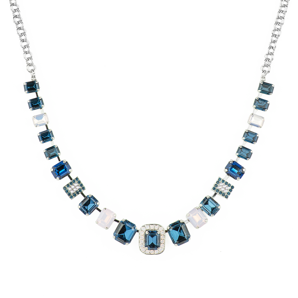 "Emerald Cut Necklace in ""Blue Morpho"" *Preorder*"