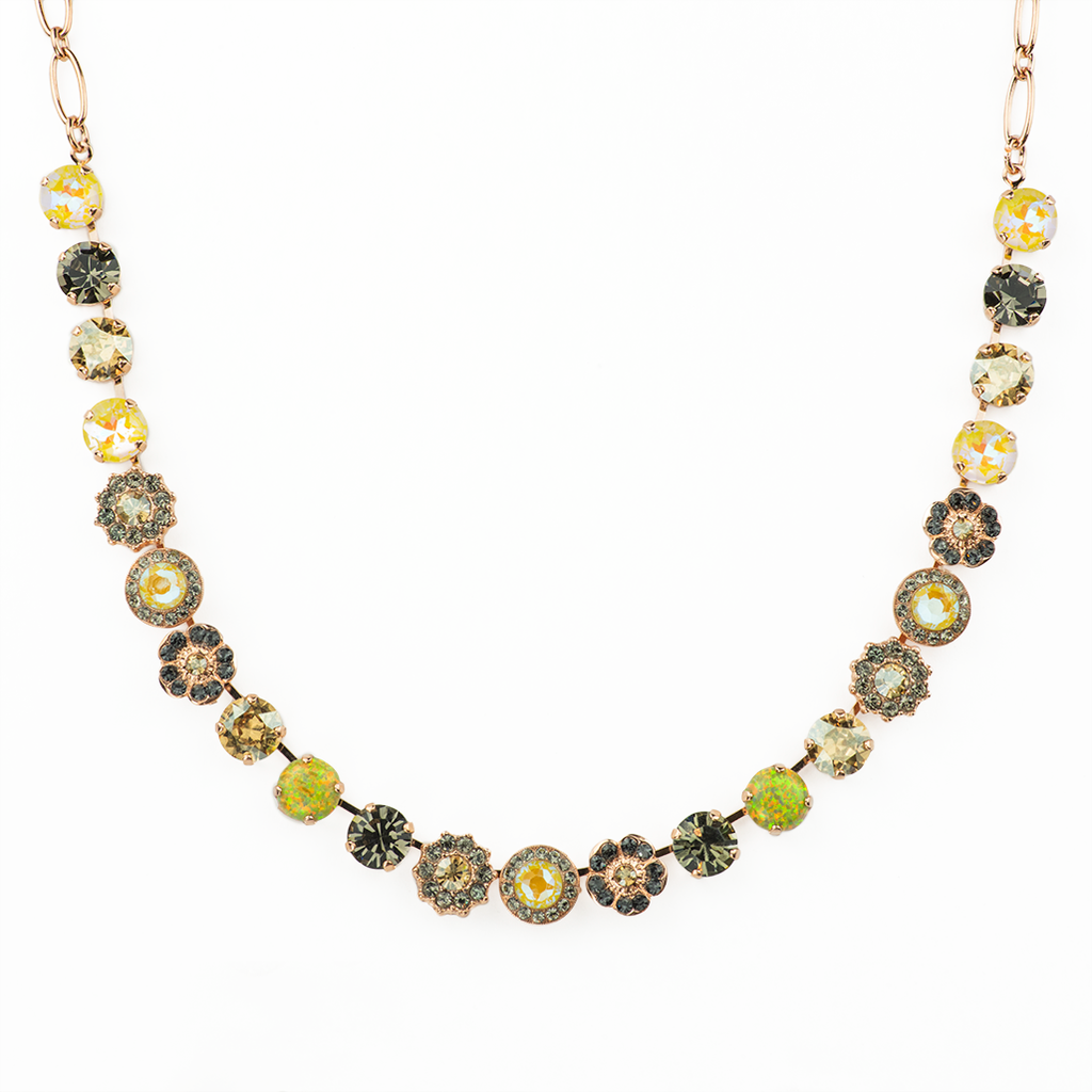 "Lovable Rosette Necklace in ""Painted Lady"" *Preorder*"