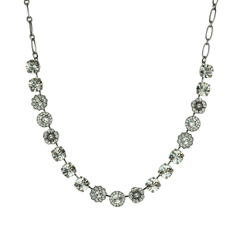 "Lovable Rosette Necklace ""On A Clear Day"""