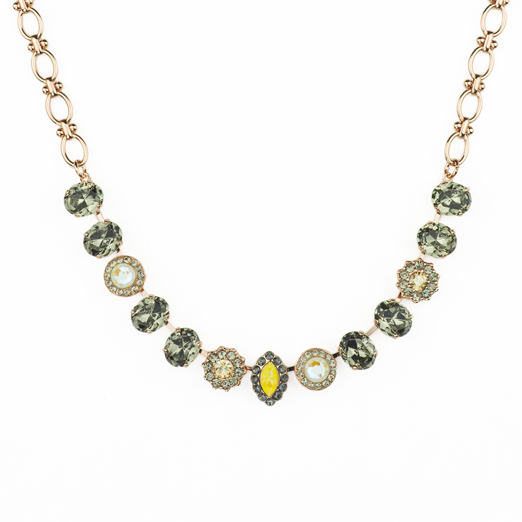 "Oval and Cluster Necklace in ""Painted Lady"" *Preorder*"