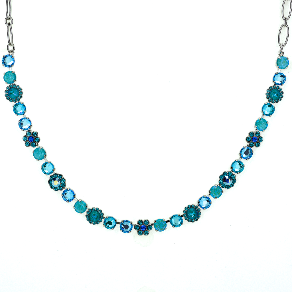 "Must-Have Flower Necklace in ""Tranquil"" - Rhodium"