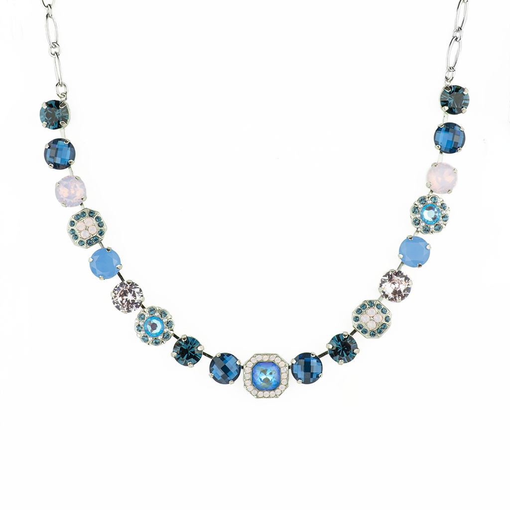 "*Preorder* Lovable Square Cluster Necklace in ""Blue Morpho"""