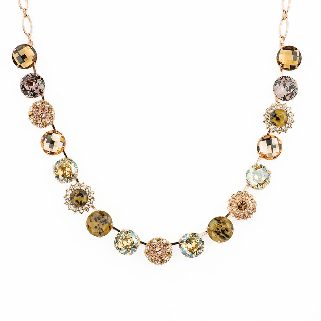 "Extra Luxurious Cluster Necklace in ""Meadow Brown"" *Preorder*"