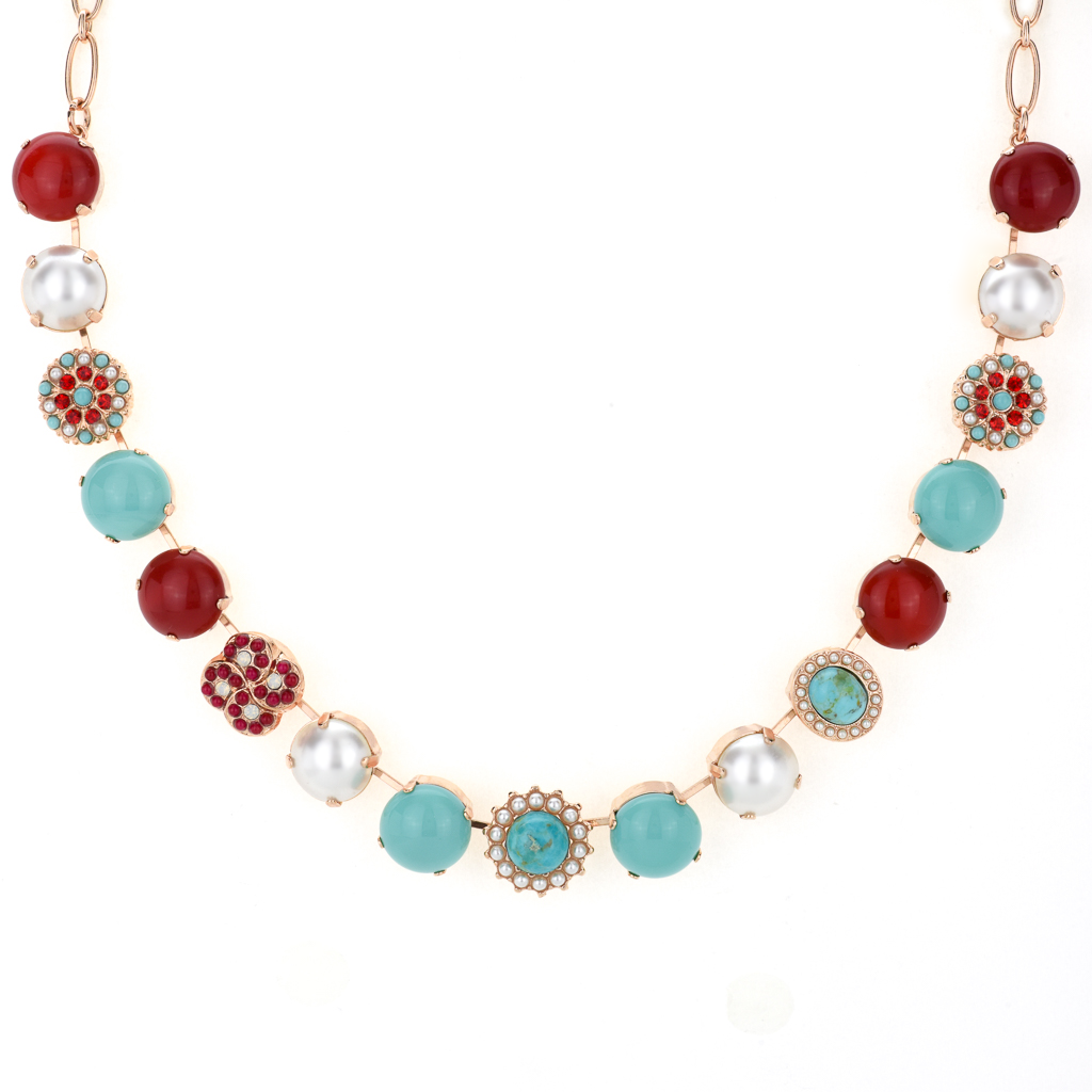 "Extra Luxurious Cluster Necklace in ""Happiness-Turquoise"" *Preorder*"