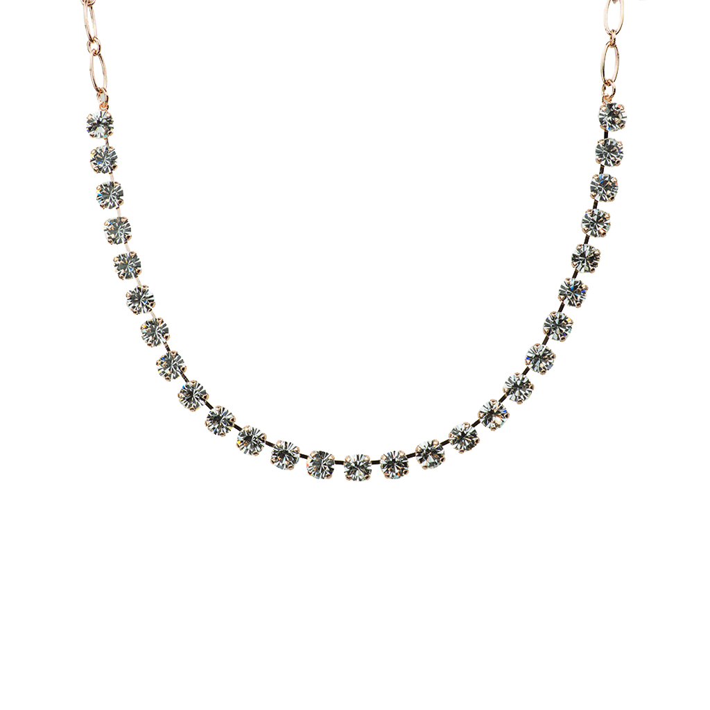 "Must-Have Everyday Necklace ""On A Clear Day""- Rose Gold and Antiqued Silver"