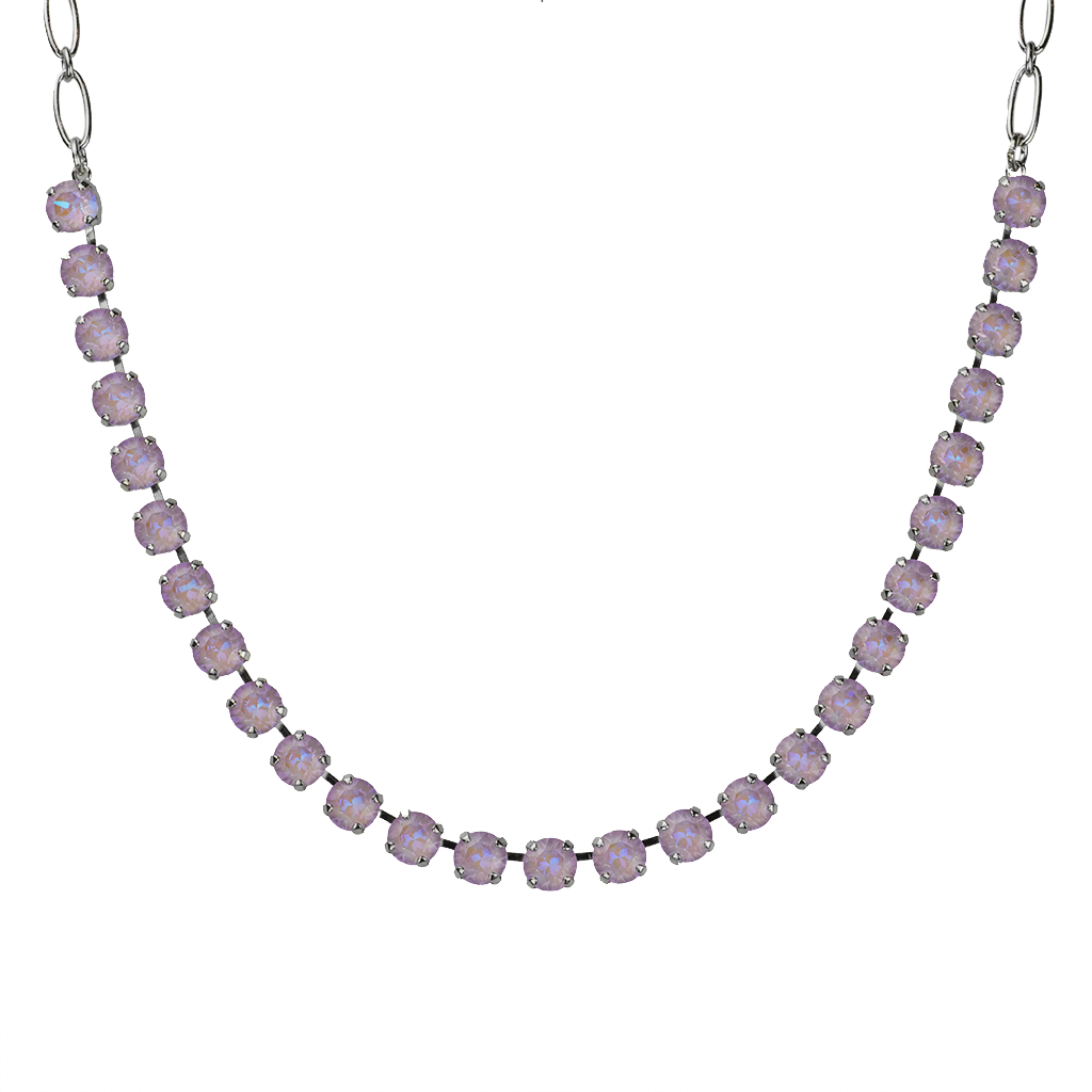 "Must-Have Everyday Necklace Sun-Kissed ""Lavender"" - Rhodium"