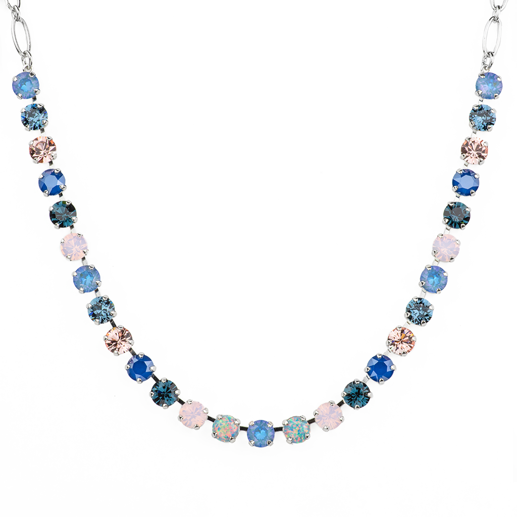 "Must-Have Everyday Necklace with Synthetic Opals in ""Blue Morpho"" *Preorder*"