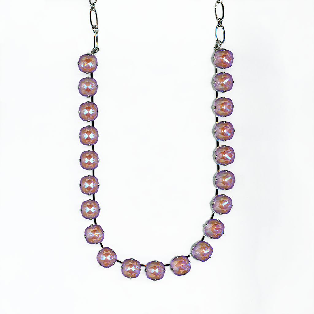 "Cushion Cut Necklace in Sun-Kissed ""Lavender"" *Preorder*"
