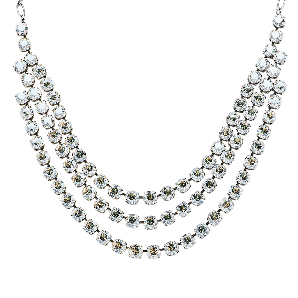 Round Triple Row Bridal Necklace *Preorder*