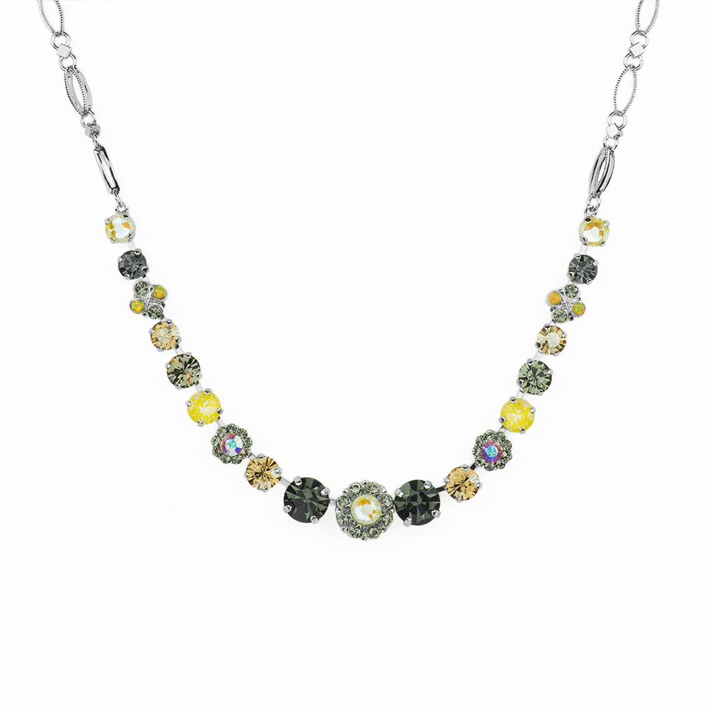 "Rosette and Center Cluster Necklace in ""Painted Lady"" *Preorder*"