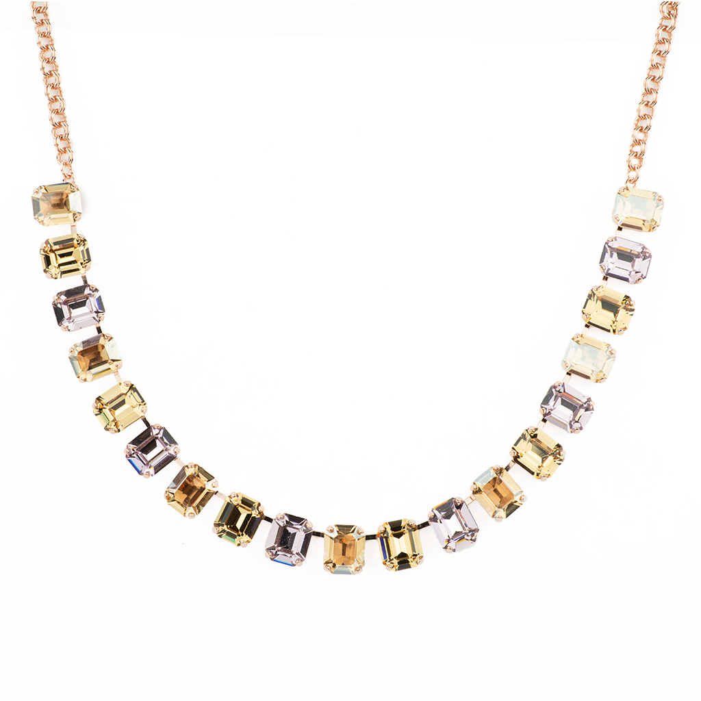 "Emerald Cut Necklace in ""Meadow Brown"" *Preorder*"