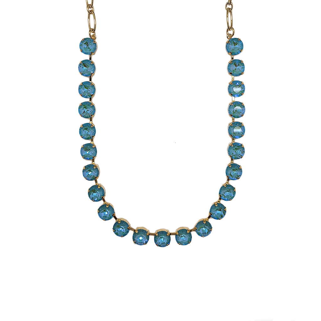 "*Preorder* Lovable Round Necklace in Sun-Kissed ""Aqua"""