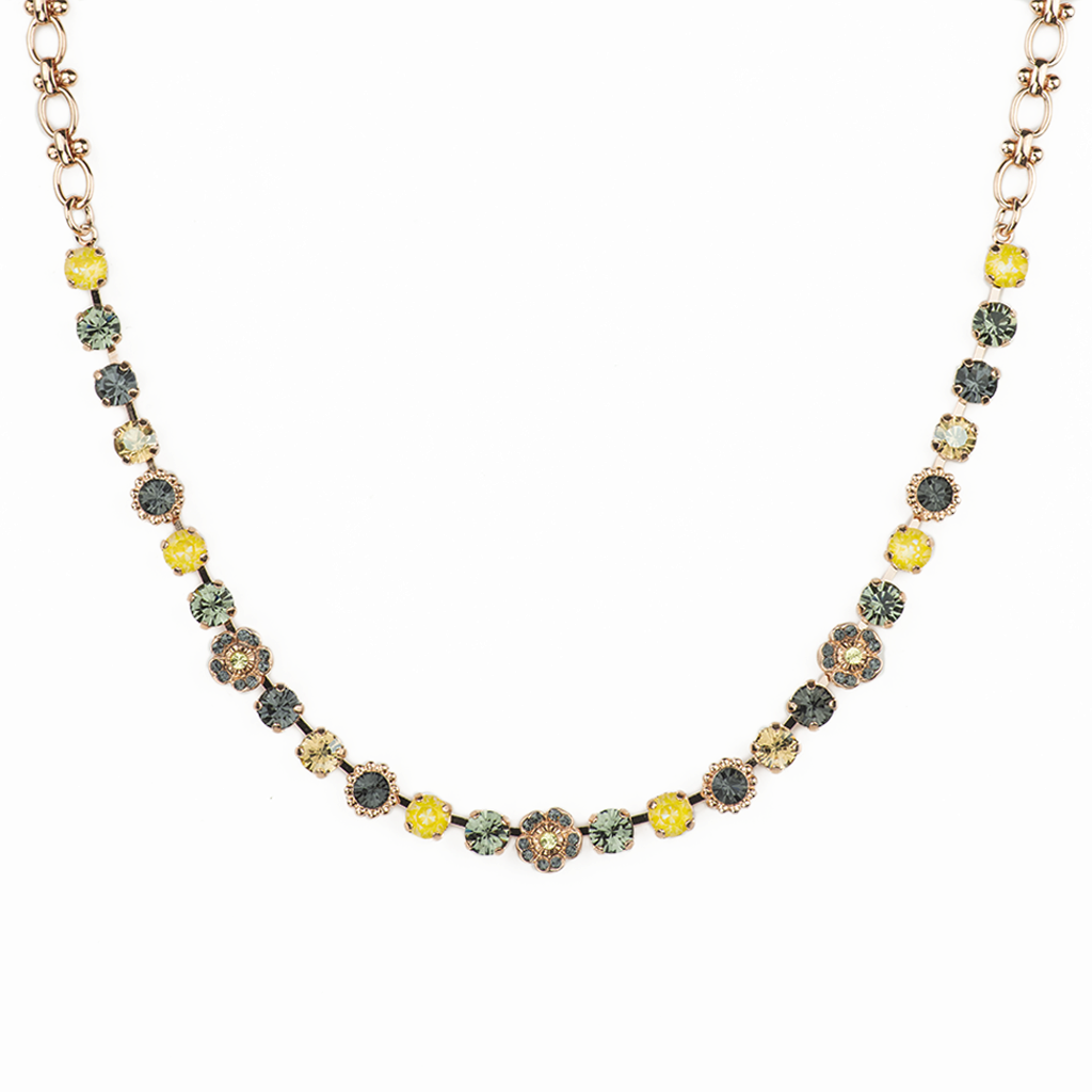 "Petite and Flower Cluster Necklace in ""Painted Lady"" *Preorder*"