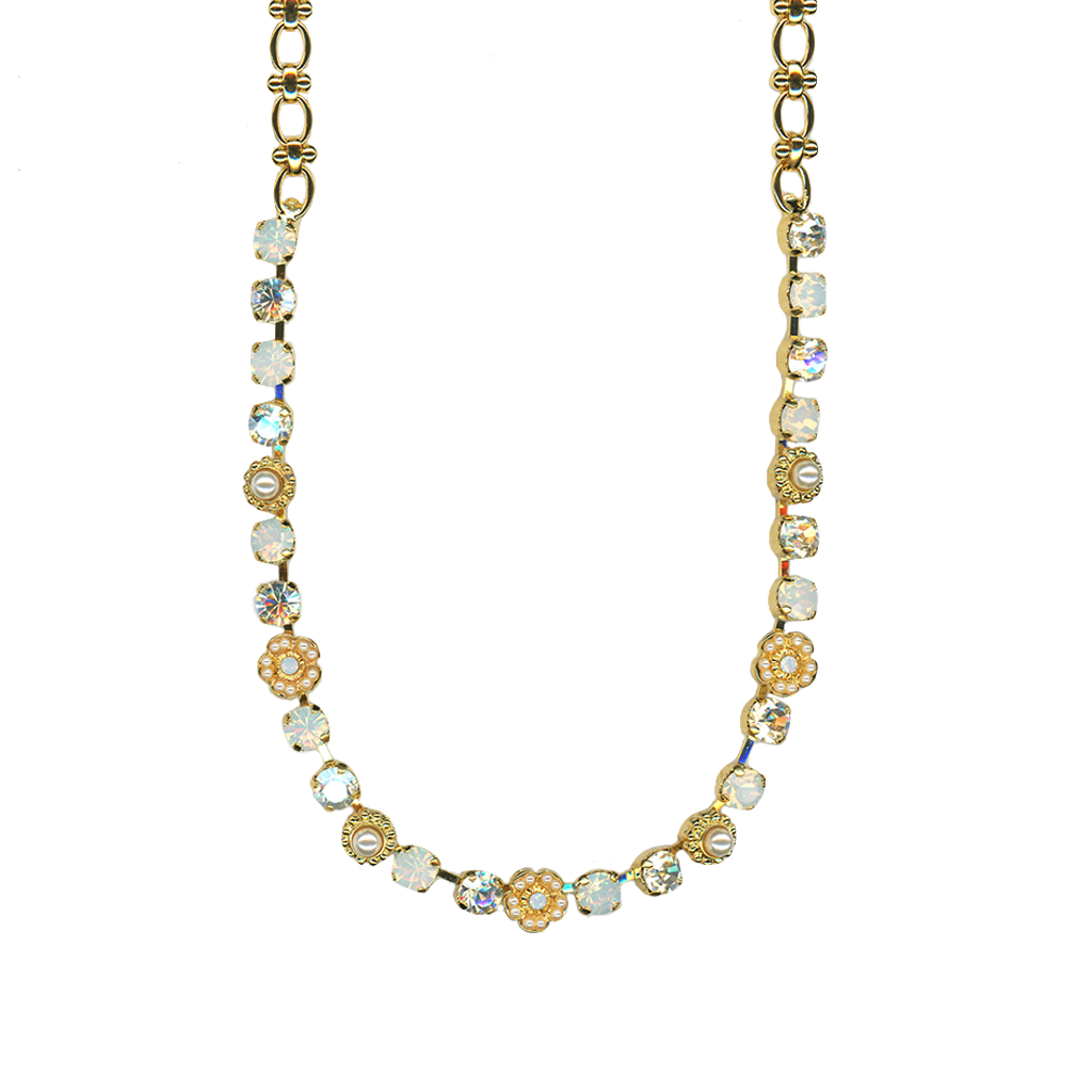 "Petite Flower Cluster Necklace in ""Bermuda""- Yellow Gold"