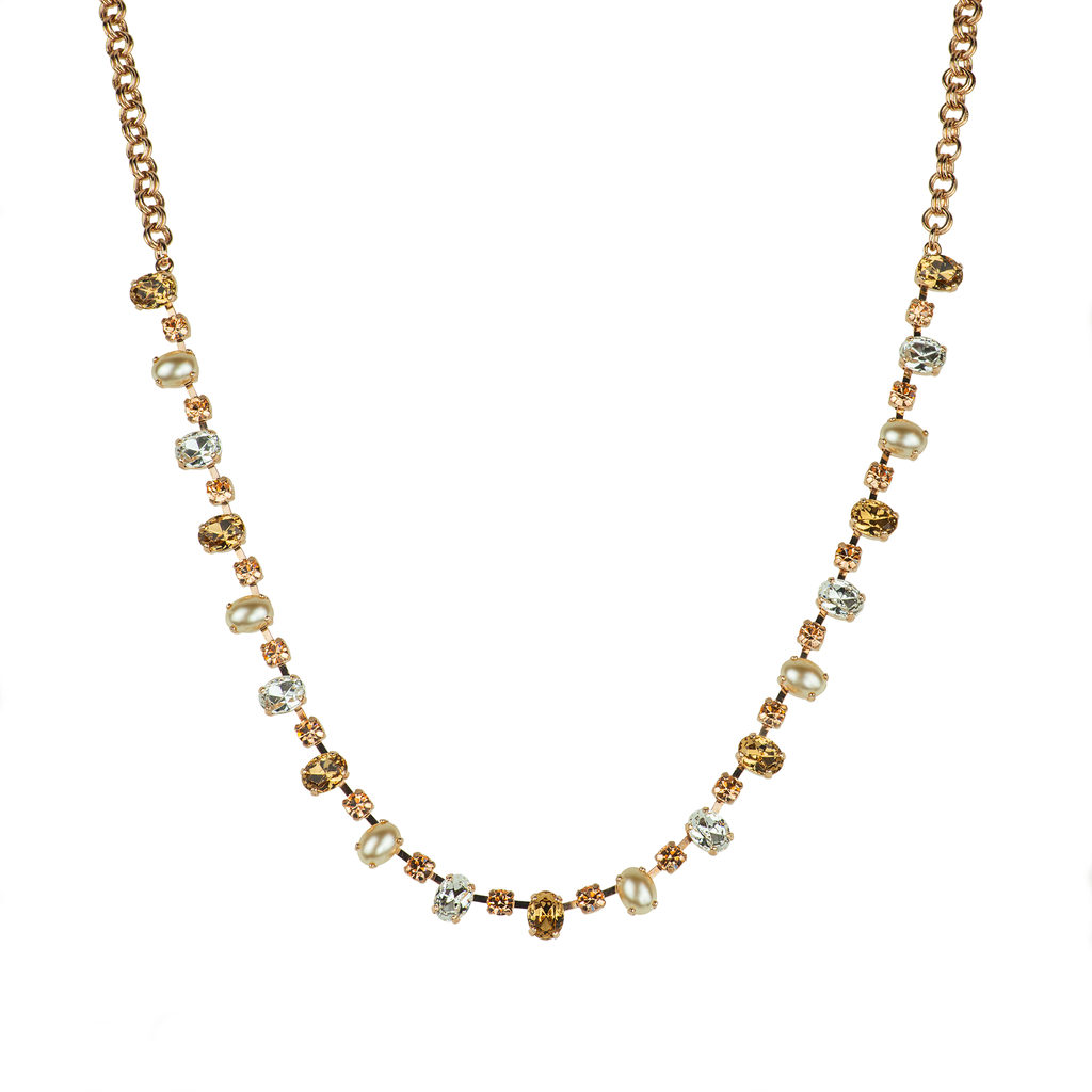 "Oval Bridal Necklace ""Blush"" - Rose Gold"