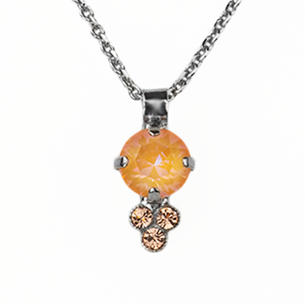 "Must-Have Pendant in Sun-Kissed ""Peach""-Rhodium"