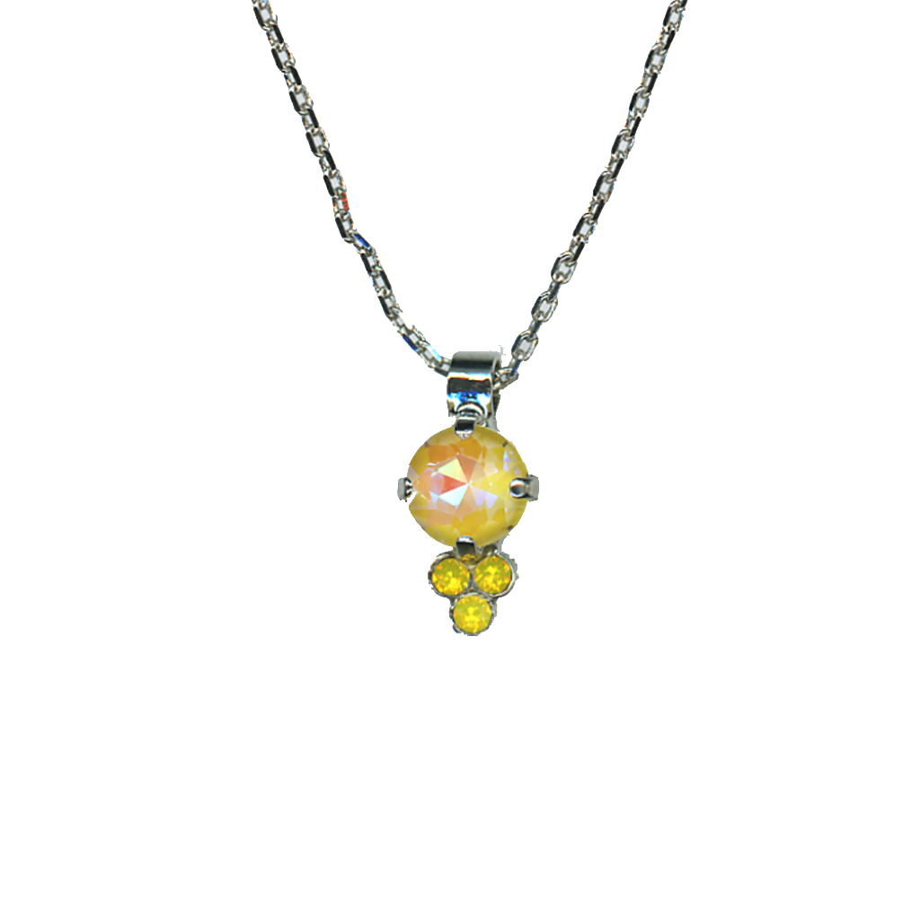 "Must-Have Pendant in Sun-Kissed ""Sunshine""-Rhodium"