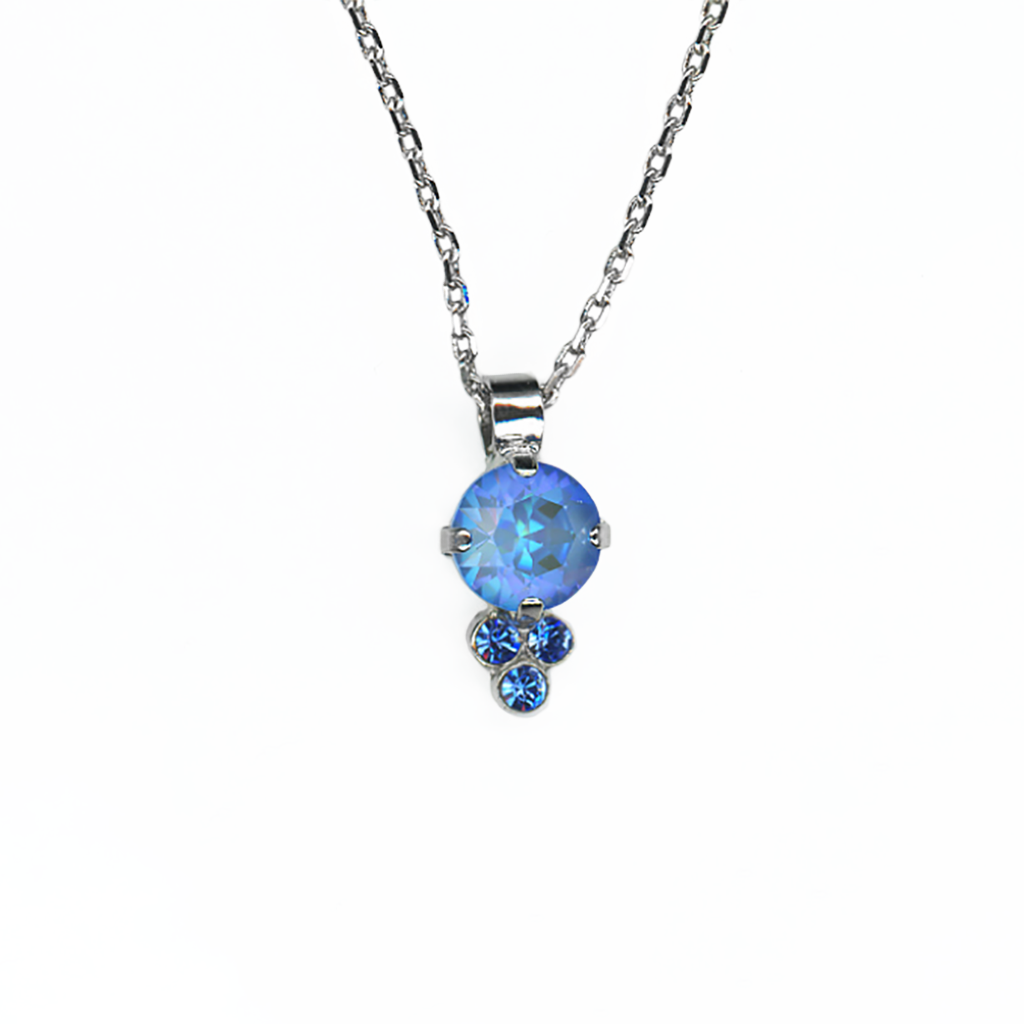 "Must-Have Pendant in Sun-Kissed ""Ocean""-Rhodium"