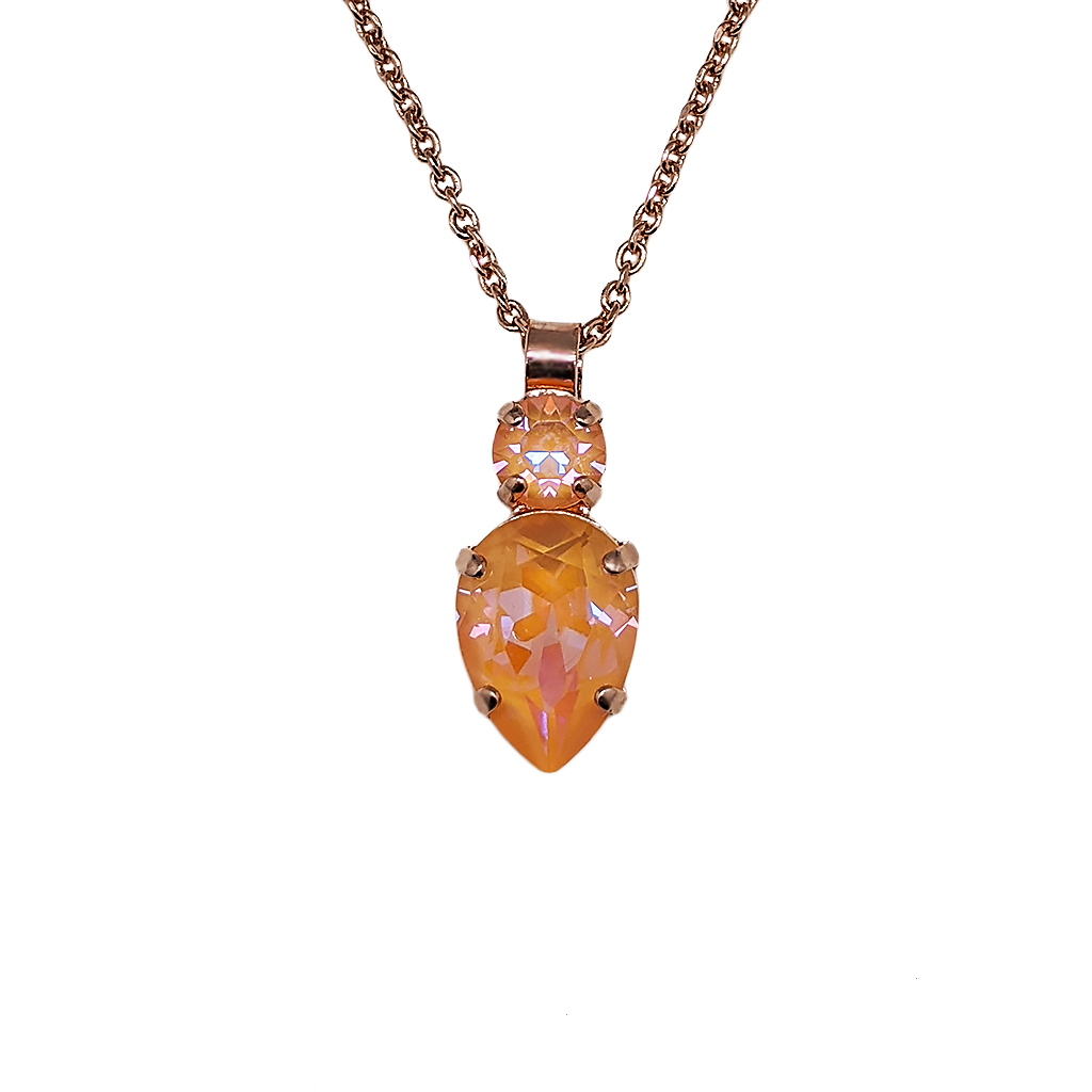 "Double Round and Pear Pendant in Sun-Kissed ""Peach"" *Preorder*"