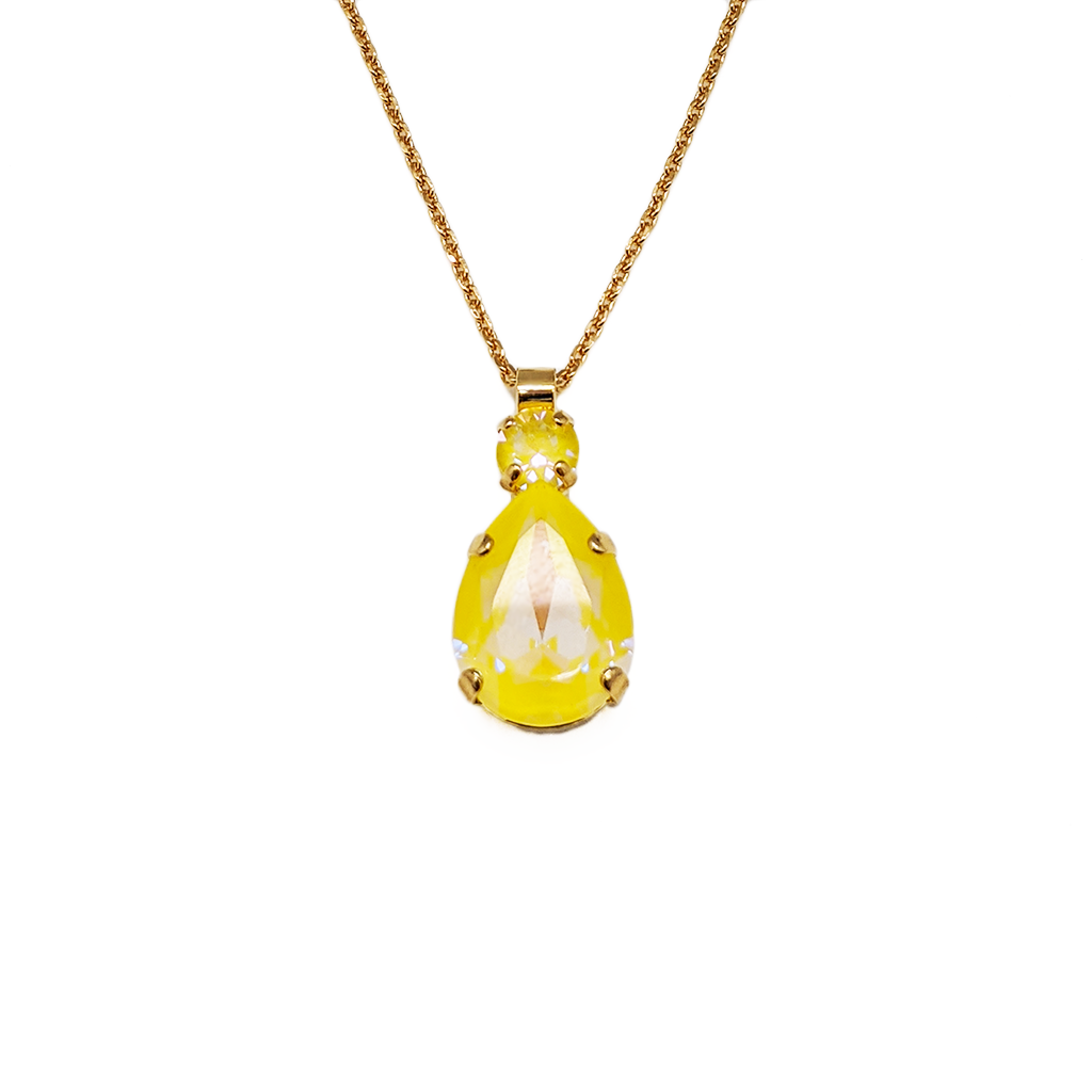 "Double Stone Pear Pendant in Sun-Kissed ""Sunshine"" *Preorder*"