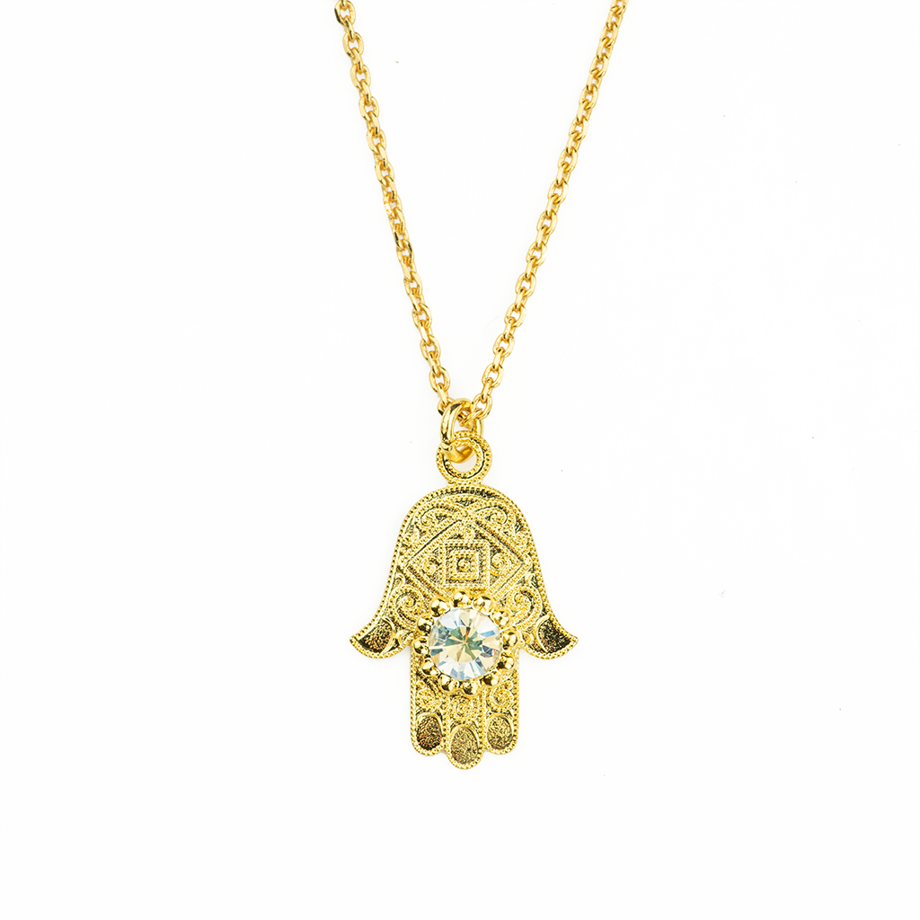 "*Preorder* Hamsa Pendant in ""Crystal Moonlight"""