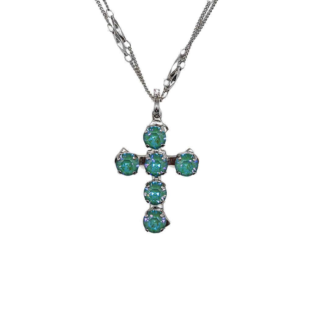 "Cross Pendant in Sun-Kissed ""Jade"" *Preorder*"