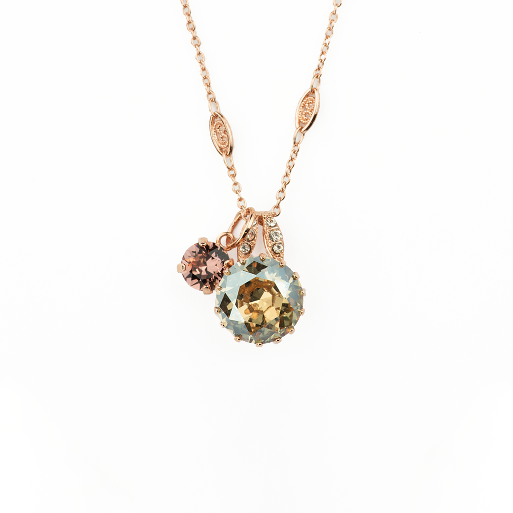 "Double Stone Lovable Pendant in ""Meadow Brown"" *Preorder*"