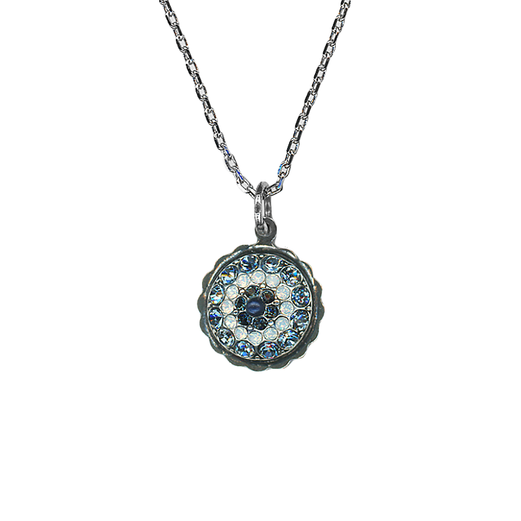 "Pavé Pendant in ""Mood Indigo""- Antiqued Silver"
