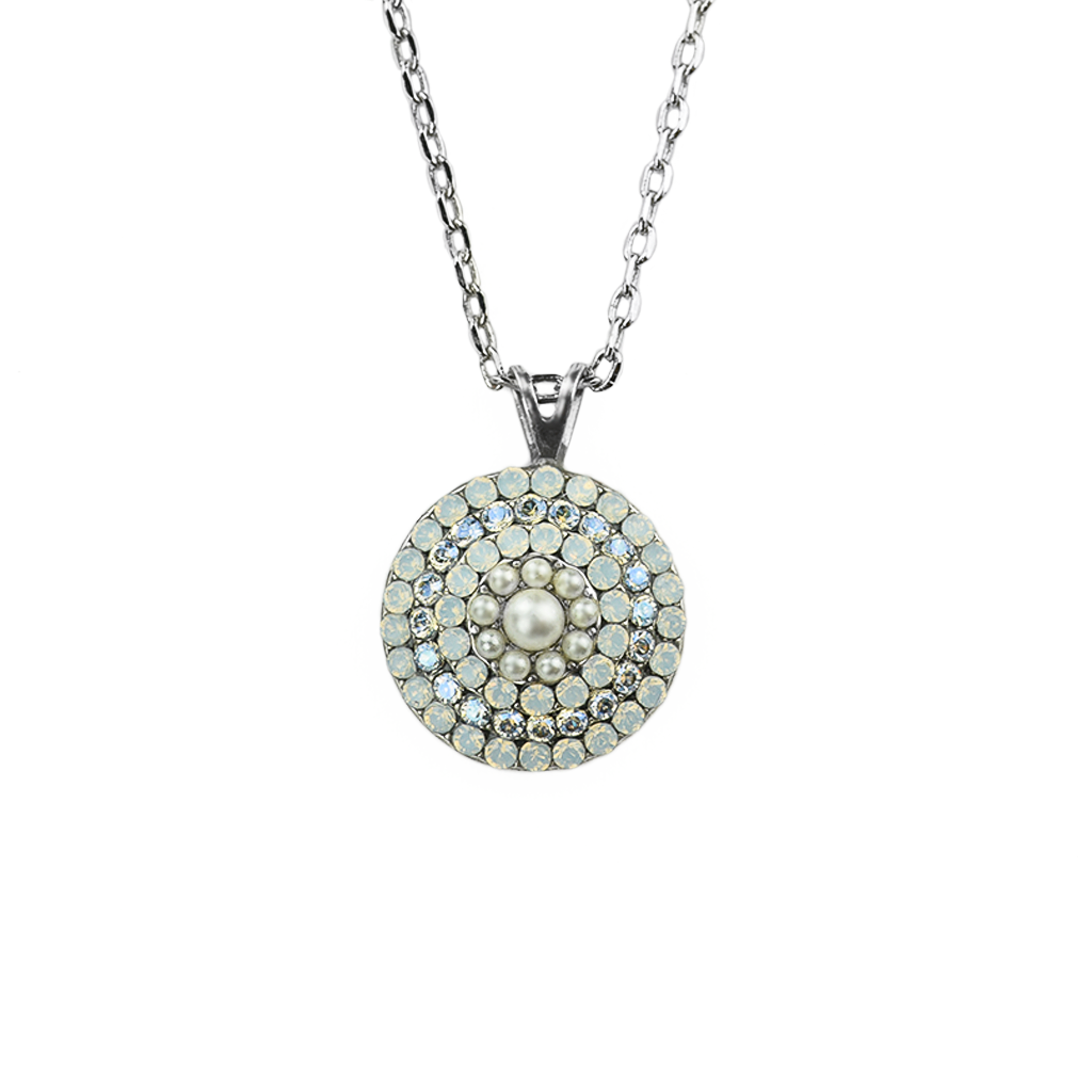"Large Bridal Pave Pendant in ""Ivory"" *Preorder*"
