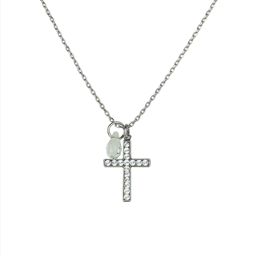 "Petite Cross Pendant in ""On A Clear Day"" *Preorder*"