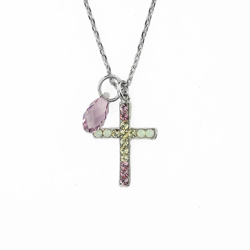 "Petite Cross Pendant in ""Travelara"" *Preorder*"