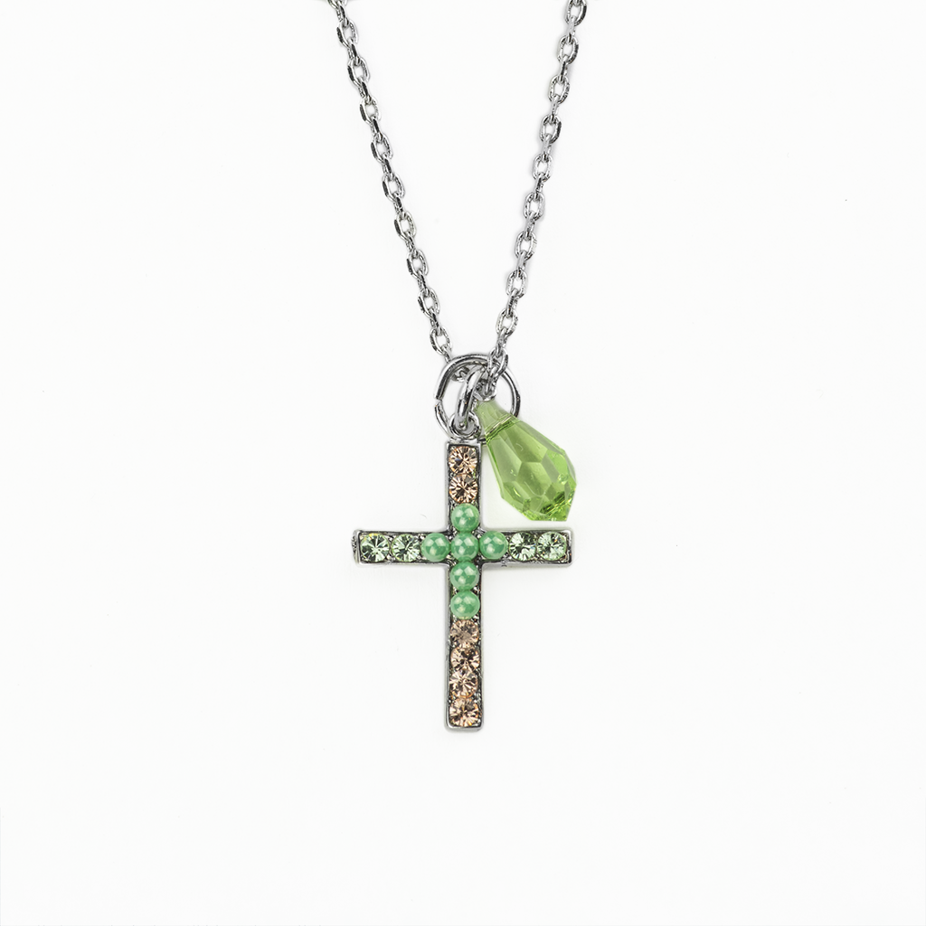 "Petite Cross Pendant in ""Monarch"" *Preorder*"