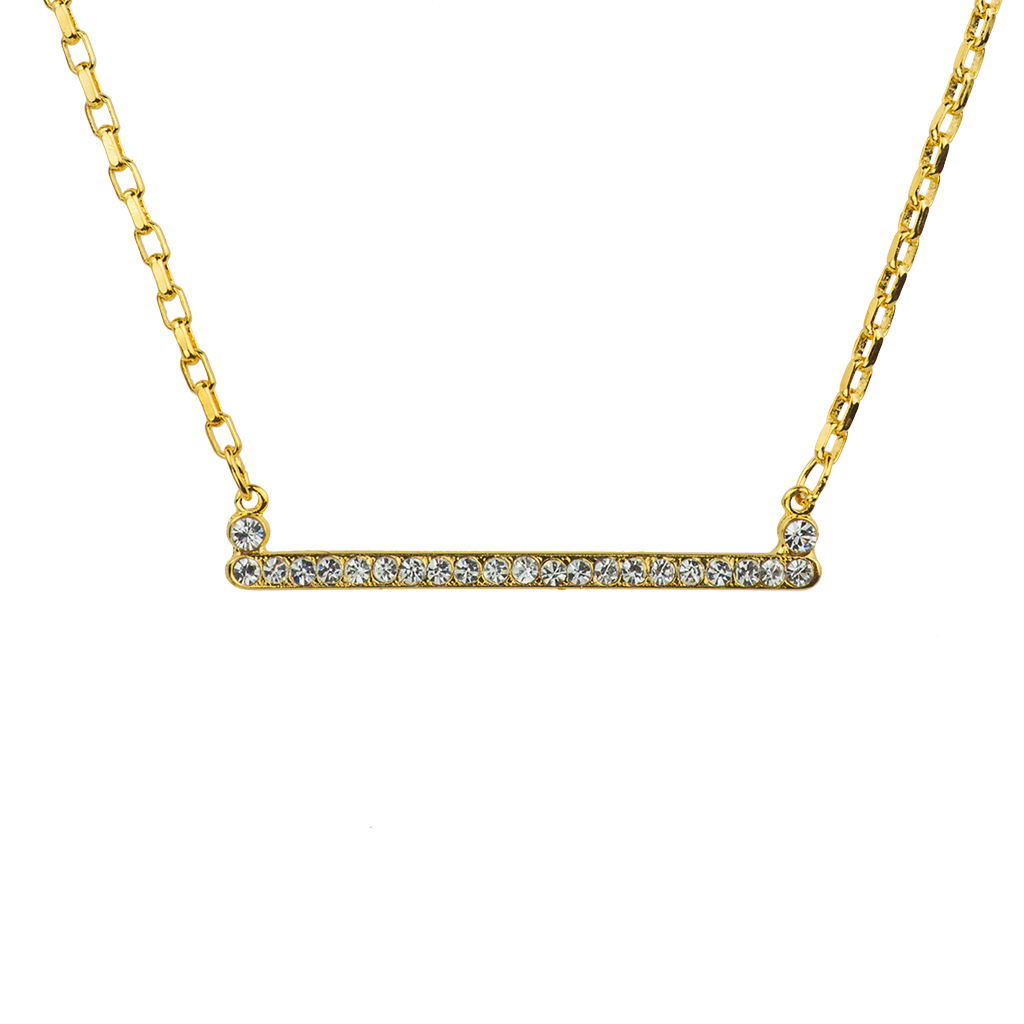 "[Yellow Gold] Petite Bar Pendant ""On A Clear Day"""