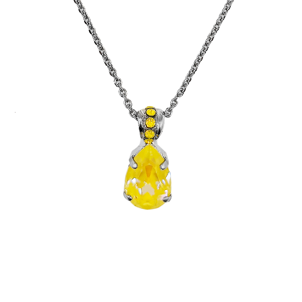 "*Preorder* Pear Pendant in Sun-Kissed ""Sunshine"""