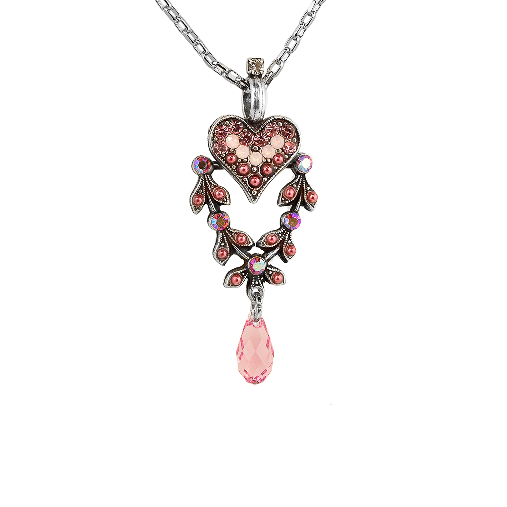"Filigree Heart Pendant in ""Antigua"" *Preorder*"