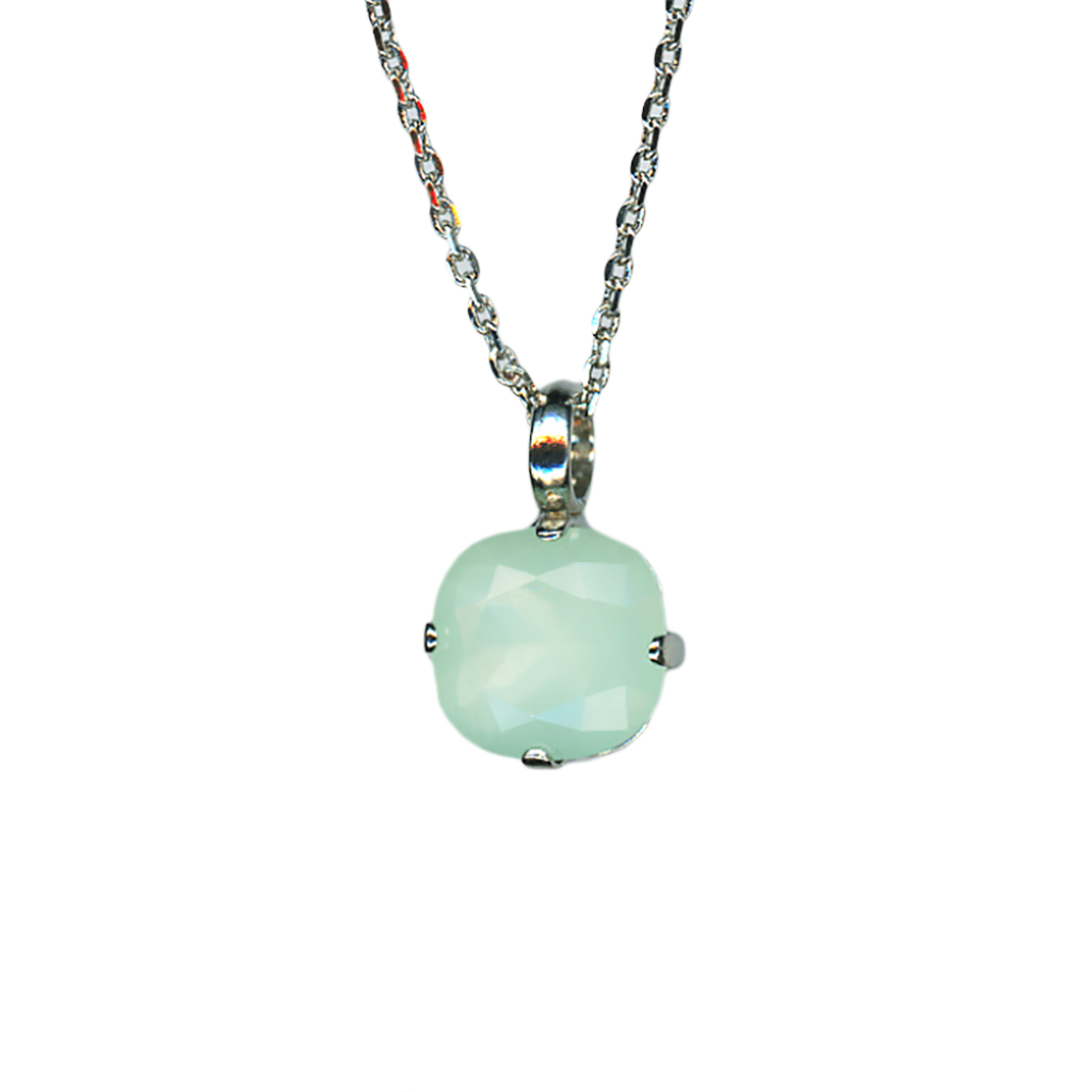 "Cushion Cut Pendant in ""Seafoam"" *Preorder*"