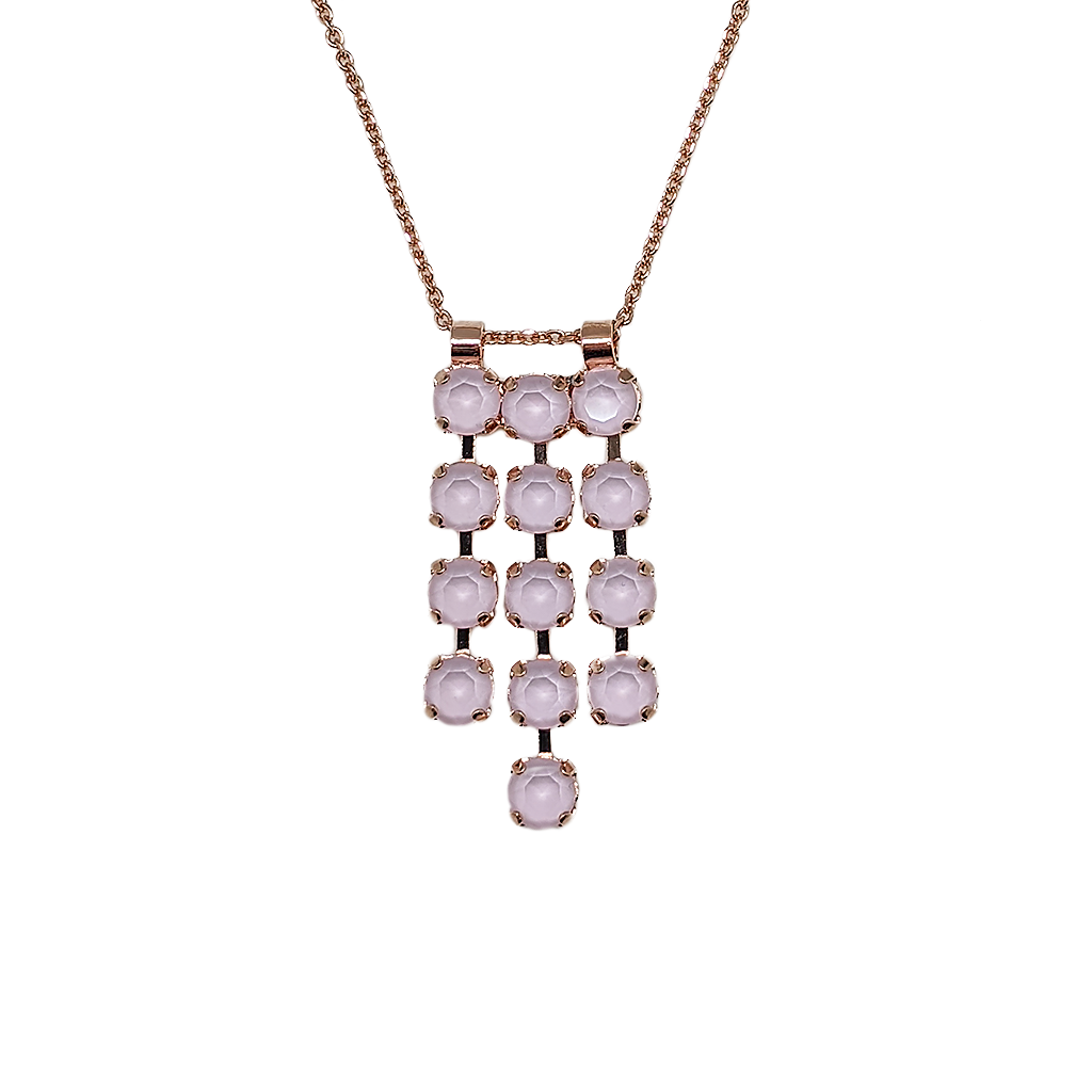 "*Preorder* Petite Three Row Pendant in Sun-Kissed ""Rose"""