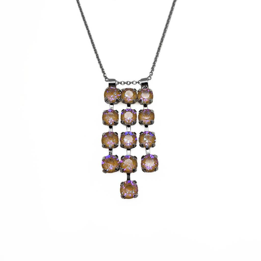 "*Preorder* Petite Three Row Pendant in Sun-Kissed ""Horizon"""